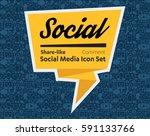 flat icons in a speech bubble... | Shutterstock .eps vector #591133766