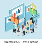 isometric flat 3d concept... | Shutterstock .eps vector #591142682