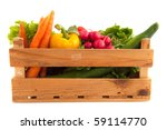 wooden crate with a diversity... | Shutterstock . vector #59114770