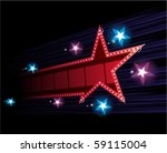star shape neon for poster at... | Shutterstock .eps vector #59115004