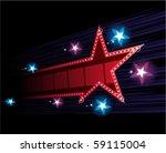 star shape neon for poster at... | Shutterstock .eps vector #59115004
