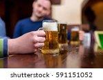 beer in a bar | Shutterstock . vector #591151052