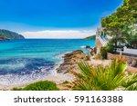 island scenery  seascape...   Shutterstock . vector #591163388