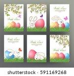 set of postcard or banner for... | Shutterstock .eps vector #591169268