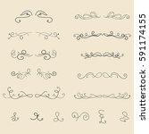 hand drawn frames  border ... | Shutterstock .eps vector #591174155