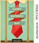 fathers day poster greeting... | Shutterstock .eps vector #591178562