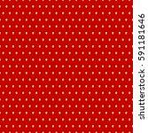 seamless strawberry pattern. | Shutterstock .eps vector #591181646
