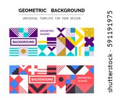 simple geometric backgrounds... | Shutterstock .eps vector #591191975