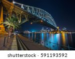 sydney. cityscape image of... | Shutterstock . vector #591193592