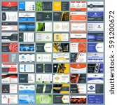 collection of business card... | Shutterstock .eps vector #591200672