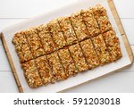 homemade no bake granola bars...   Shutterstock . vector #591203018