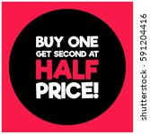 buy one get second at half... | Shutterstock .eps vector #591204416