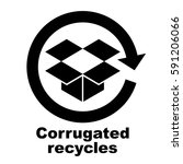 corrugated recycles symbol ... | Shutterstock .eps vector #591206066