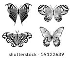 isolated tattoos of butterfly... | Shutterstock .eps vector #59122639