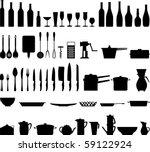 Kitchen Utensils Silhouette Vector Free kitchen utensils free vector art - (1215 free downloads)
