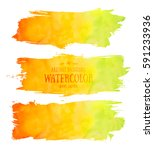 set of abstract aquarelle... | Shutterstock .eps vector #591233936