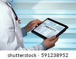 bariatrician consulting medical ...   Shutterstock . vector #591238952