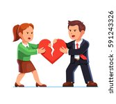 angry man and woman standing... | Shutterstock .eps vector #591243326
