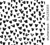 seamless pattern with black... | Shutterstock .eps vector #591253355