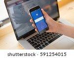 bangkok. thailand. february  27 ... | Shutterstock . vector #591254015