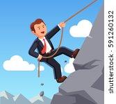 strong business man making... | Shutterstock .eps vector #591260132