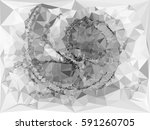 abstract monochrome mosaic... | Shutterstock .eps vector #591260705