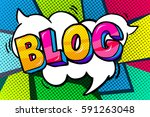 concept of bloggimg. blog word... | Shutterstock .eps vector #591263048