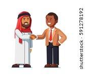 arabian and african american...   Shutterstock .eps vector #591278192