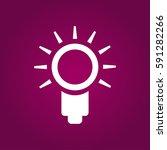 light bulb line icon. idea sign ...