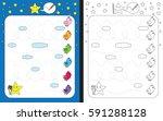preschool worksheet for... | Shutterstock .eps vector #591288128