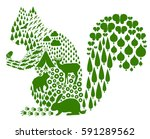squirrel and spring | Shutterstock .eps vector #591289562