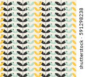 seamless floral pattern with... | Shutterstock .eps vector #591298238