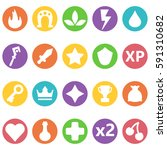 colorful vector icons set in...