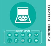 vector illustration pizza icon | Shutterstock .eps vector #591314666