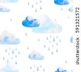 watercolor seamless pattern.... | Shutterstock . vector #591321572
