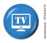 tv icon | Shutterstock .eps vector #591325172
