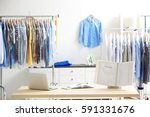 interior in dry cleaning salon | Shutterstock . vector #591331676