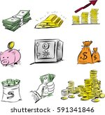 the concept for business... | Shutterstock .eps vector #591341846