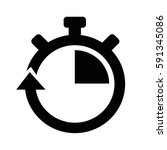 stopwatch icon | Shutterstock .eps vector #591345086