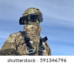 special forces soldier in... | Shutterstock . vector #591346796