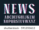 decorative serif font with... | Shutterstock .eps vector #591353612
