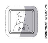 sticker monochorme silhouette... | Shutterstock .eps vector #591354998