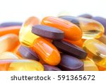 vitamins and healthy... | Shutterstock . vector #591365672