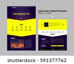 one page  dark blue and yellow...