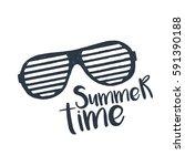 hand drawn 90s themed badge...   Shutterstock .eps vector #591390188