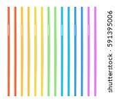 drinking straws vector. set of...   Shutterstock .eps vector #591395006