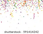 confetti abstract background... | Shutterstock .eps vector #591414242