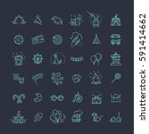 thin line web icons set  ...   Shutterstock .eps vector #591414662