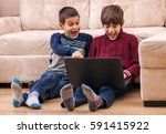 do you know what your kids are... | Shutterstock . vector #591415922