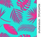 seamless tropical vector... | Shutterstock .eps vector #591416456